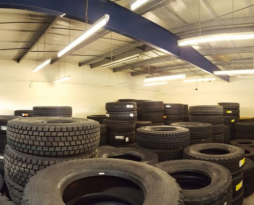 Lodge Tyres, Manchester lighting installation by Ozone